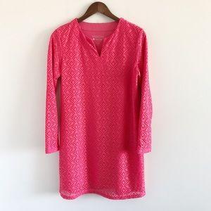 Coolibar UPF 50+ Pink Crochet Tunic Dress S